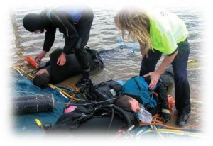 Picture of decompression sickness